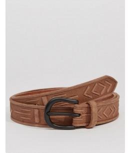 Handcarved Leather Belt