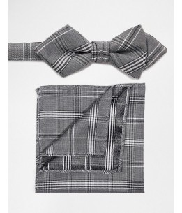 Selected Homme Bow Tie & Pocket Square Set
