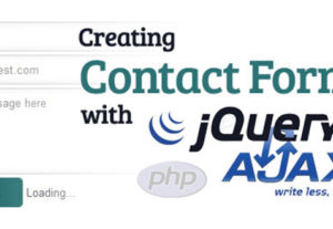 PHP contact form or quote request form
