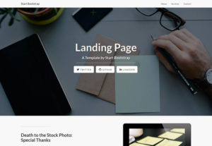 Build HTML landing page