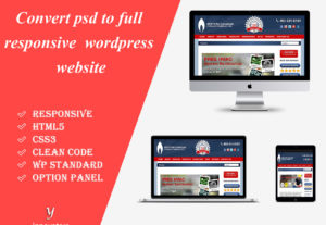 Convert PSD to fully responsive WordPress site