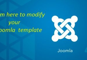 Modify Joomla template or fix your Joomla issue