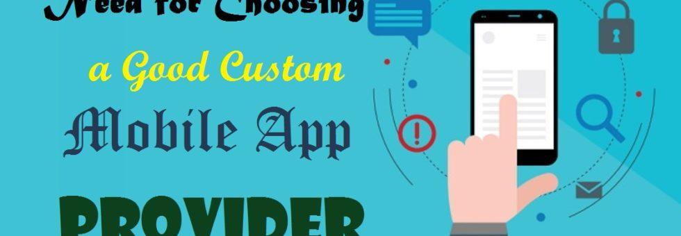 custom mobile app provider