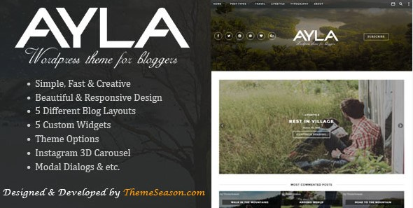 Ayla - Responsive WordPress Blog Theme
