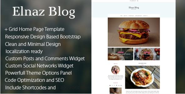 Elnaz Blog - Clean & Responsive WordPress Theme