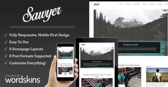 Sawyer - Clean & Responsive WordPress Blog Theme