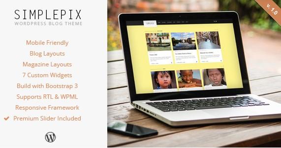 SimplePix- Magazine Themes for WordPress
