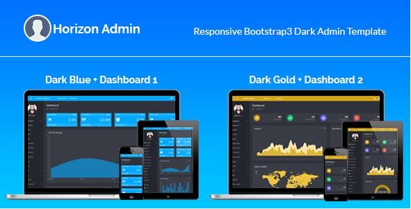 responsive bootstrap admin templates