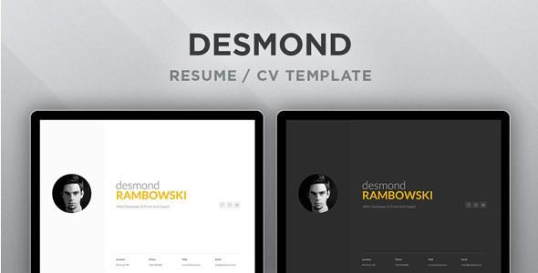 DesmondResumeCV