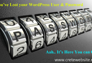 Recover your lost WordPress Username and Password