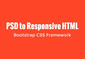 Do PSD to HTML5 CSS3 made with love and Bootstrap