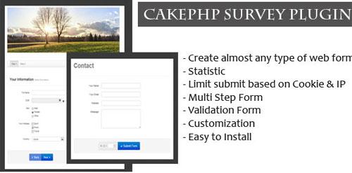 CakePHP Survey Form Generator Plugin