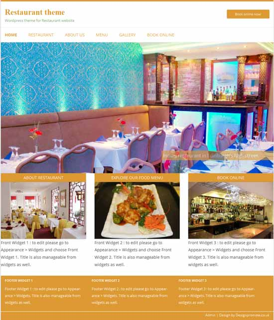 Free Cafe and Restaurant Themes