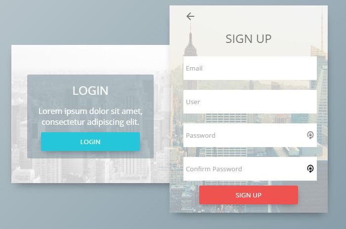 Login & Sign Up Form Concept