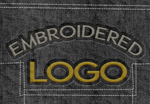 Embroidery Logo Vector Line to any design