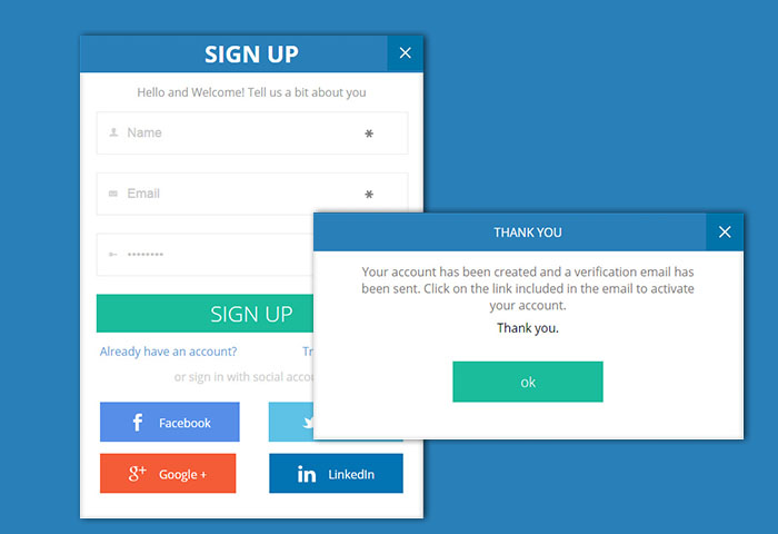 Flat Trendy Signup Form