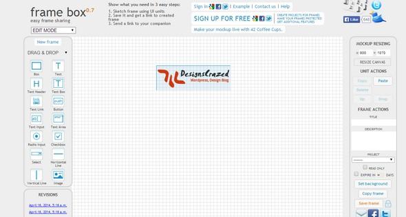 FrameBox – Online WireFrame Tool