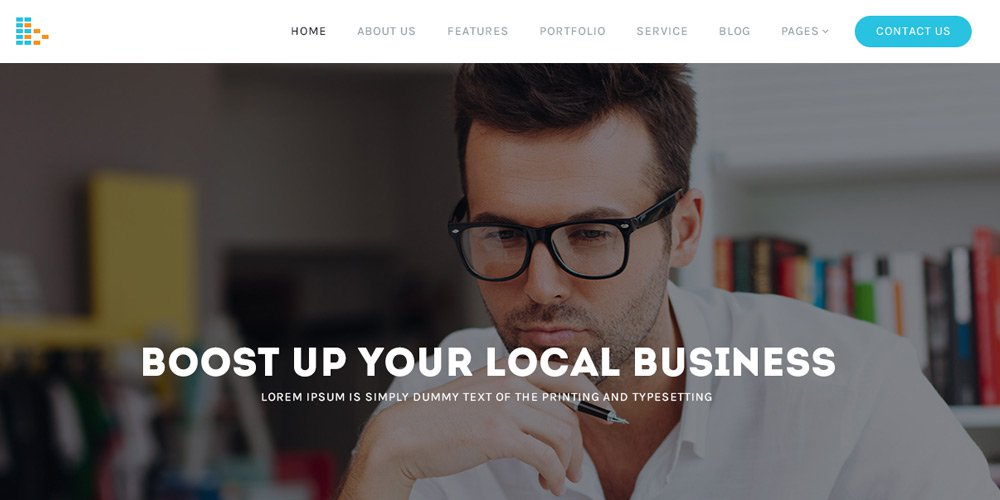 Bplus – Free Business Template PSD