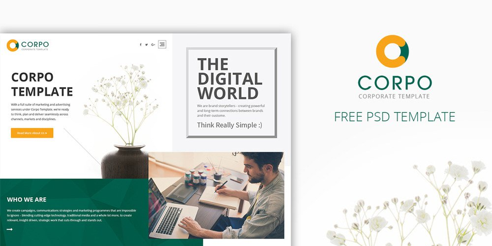 Corpo – Corporate Web Template PSD