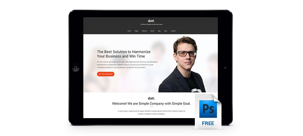 Dott – Free Business Template PSD