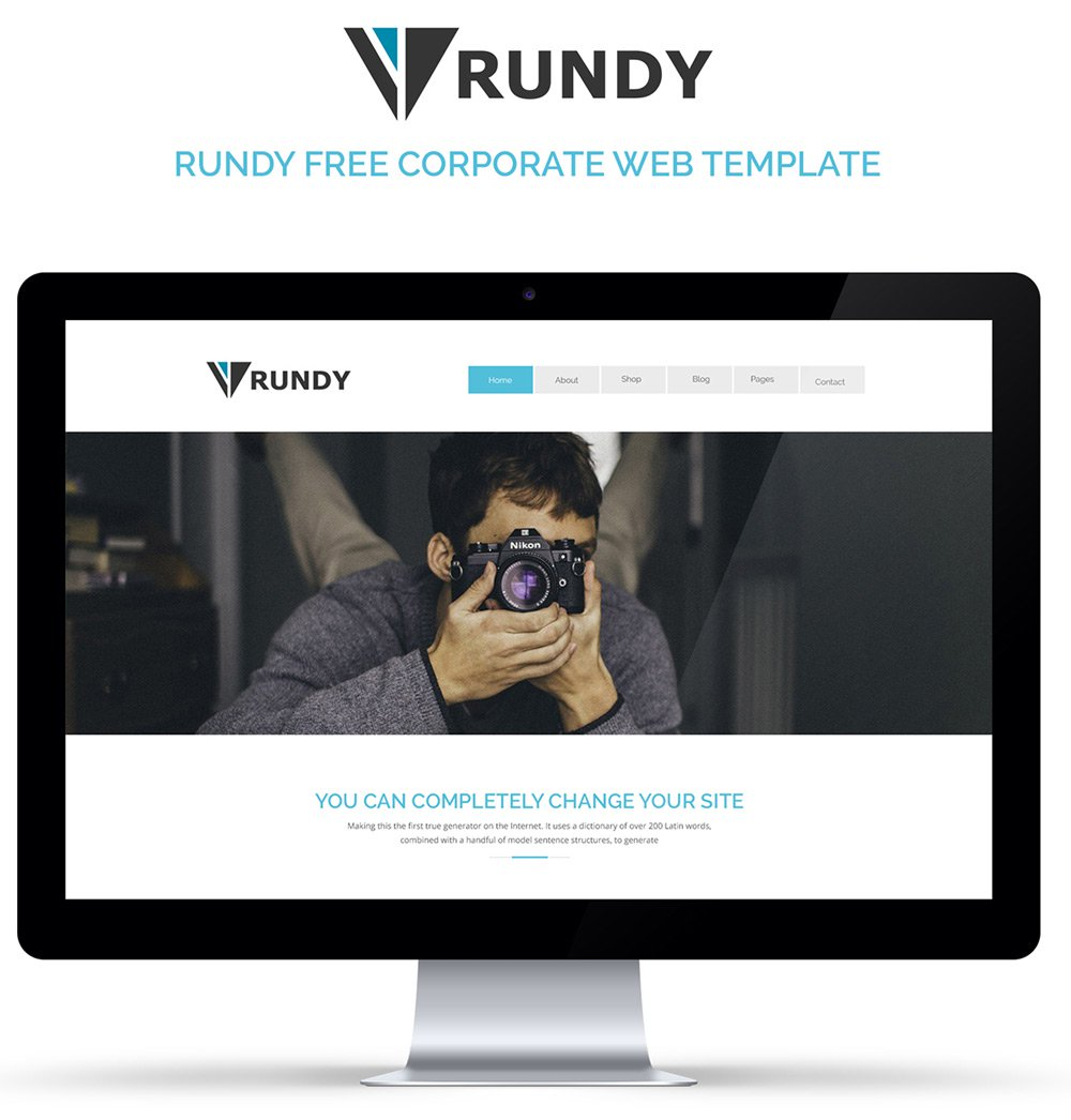 Rundy – Free Corporate Web Template PSD