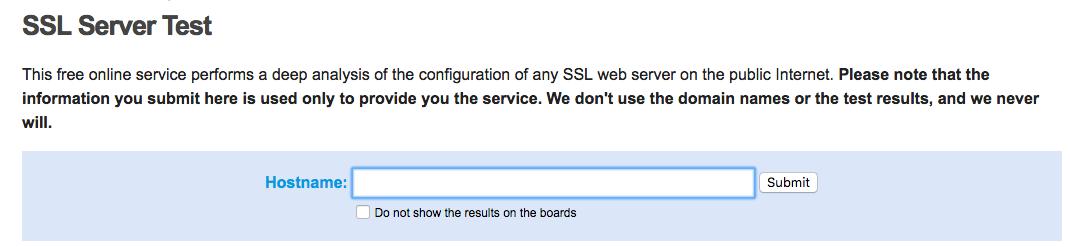 Qualys SSL Labs, Qualys FreeScan