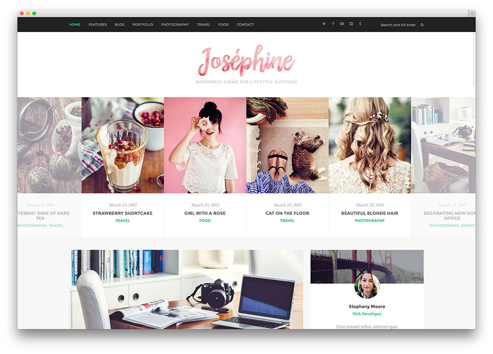 50 best selling wordpress blog themes for travel fashion for Wordpress design