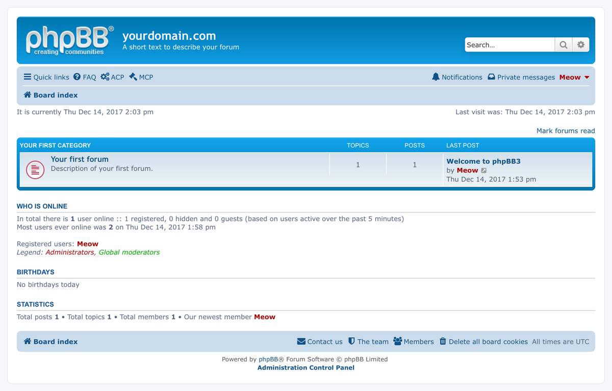 phpBB forum installation and upgrade service
